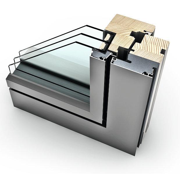 infissi alluminio legno finestra internorm HF310
