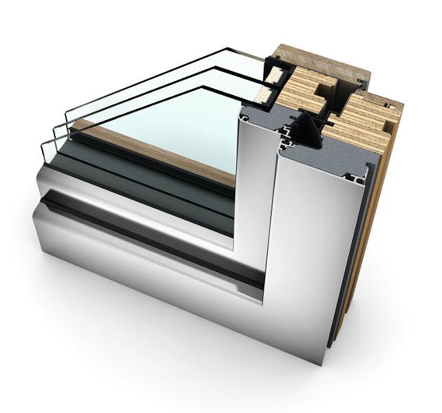 infissi alluminio legno finestre internorm HF410