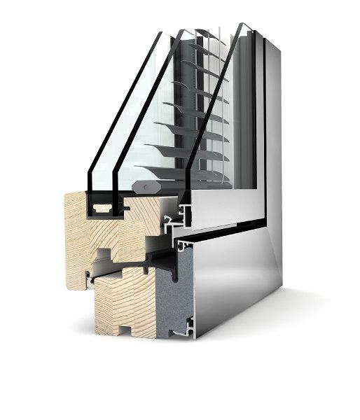 infissi alluminio legno finestre internorm HV 350
